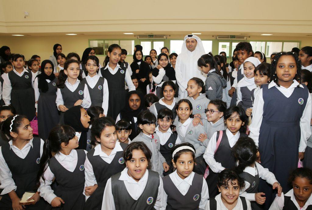 طلاب المدارس القطرية