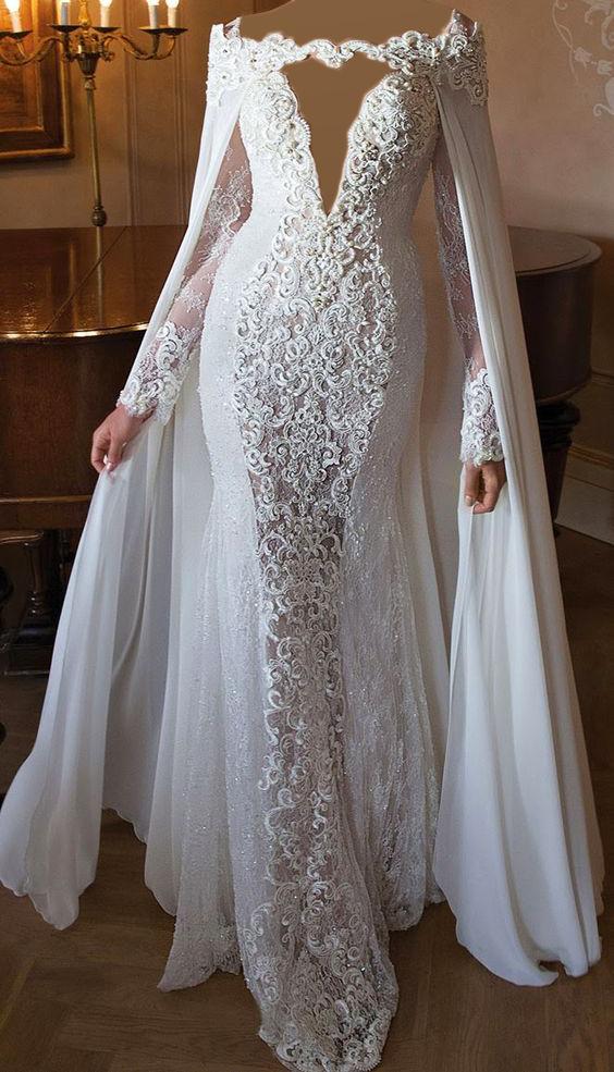 a9bf3d9d4 فستان زفاف ابيض طويل   المرسال