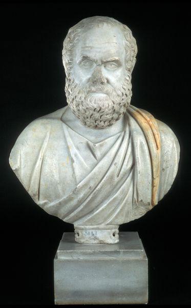 تمثال نصفي لسقراط