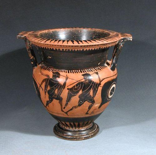 GREEK ATTIC BLACK-FIGURE COLUMN KRATER