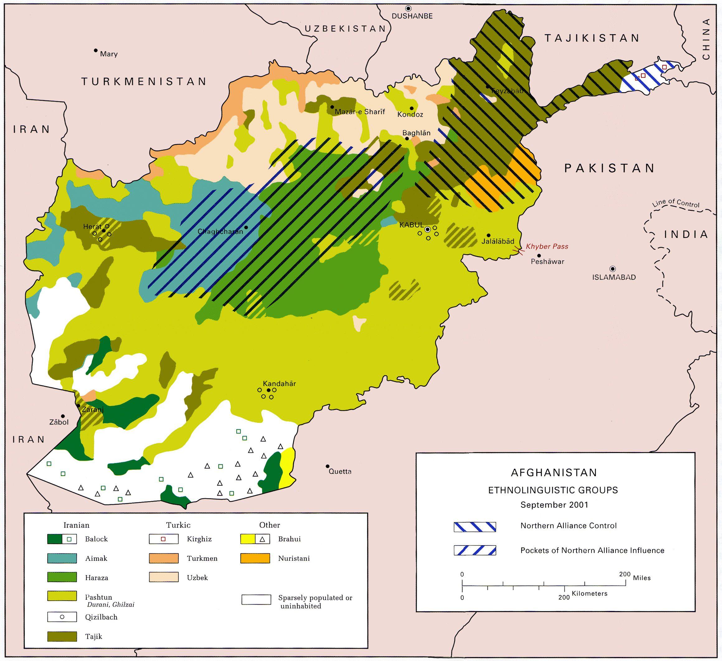 خريطة الحرب الإنجليزية الأفغانية الأولى