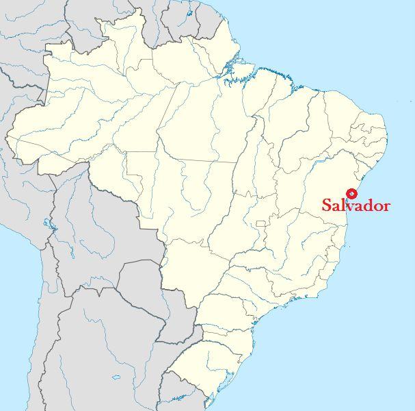 خريطة لتحديد موقع سلفادور