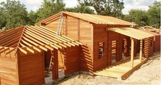 طريقة بناء المنازل الخشبية المرسال
