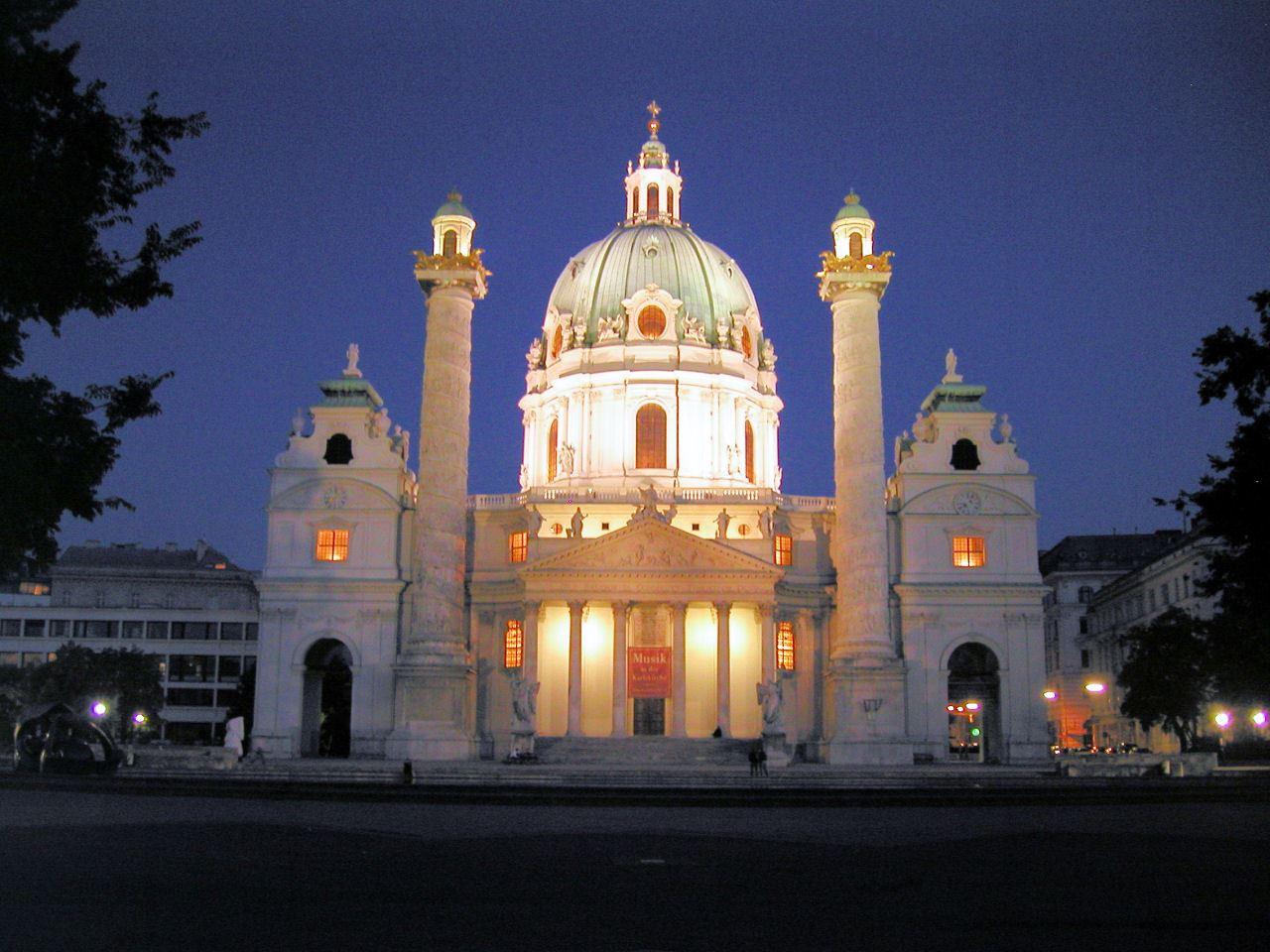 كنيسة القديس تشارلز مدينة فيينا karlskirche-a-w-karl