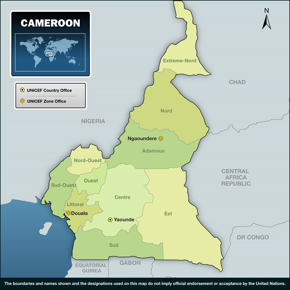 خريطة الكاميرون