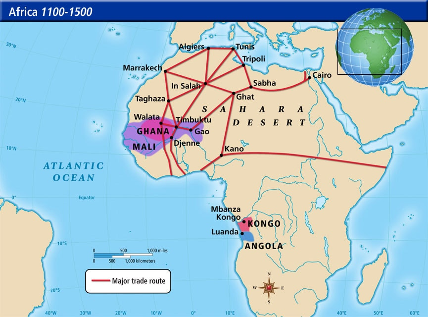 خريطة بنين