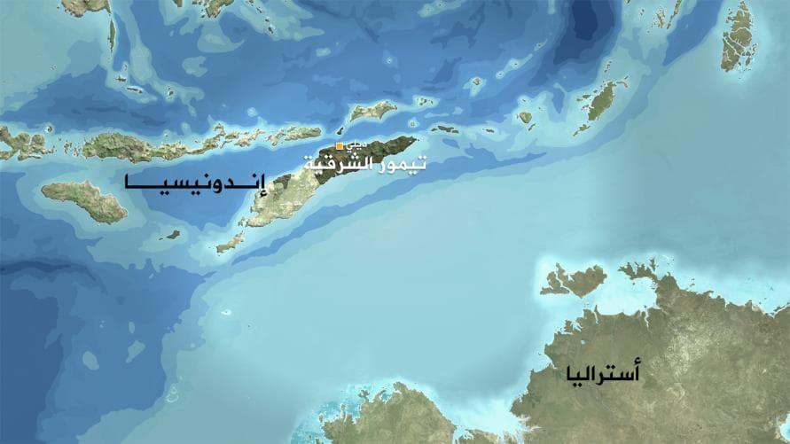 خريطة تيمور الشرقية
