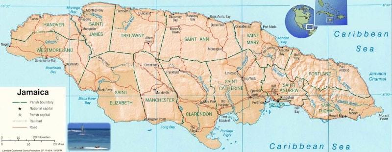 خريطة دومينيكا