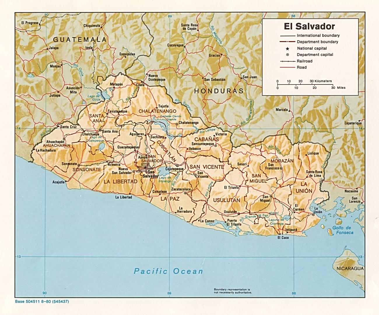 خريطة سلفادور