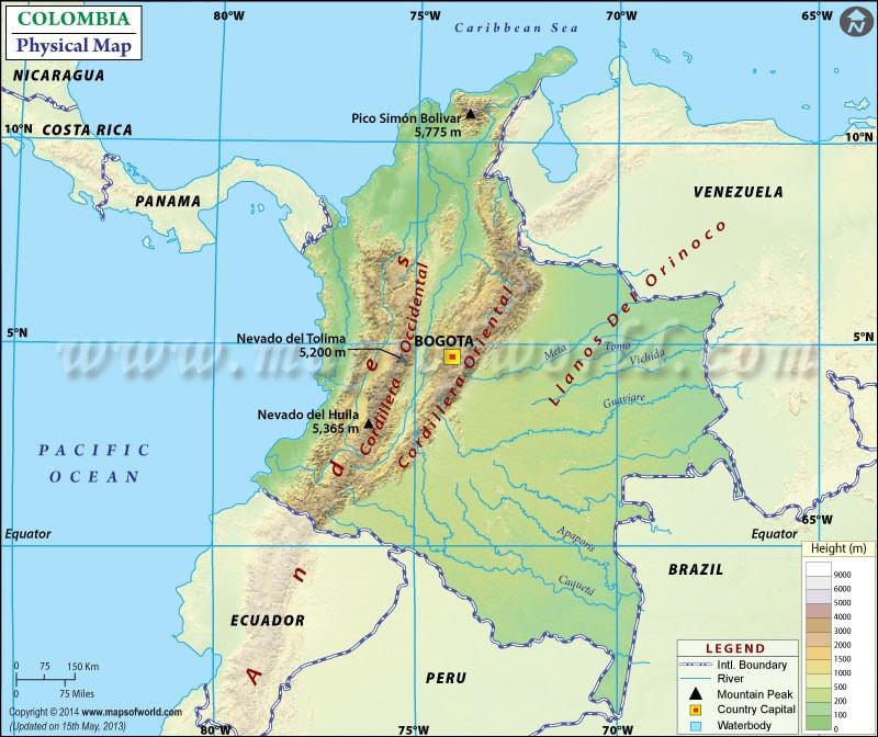 خريطة كولمبيا