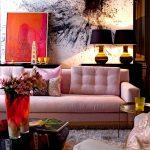 غرف جلوس رائعة و جديدة باللون الروز