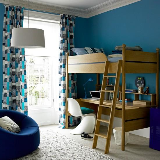 غرفة نوم اولاد زرقاء