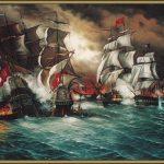 ما هي أول معركة بحرية إسلامية ؟