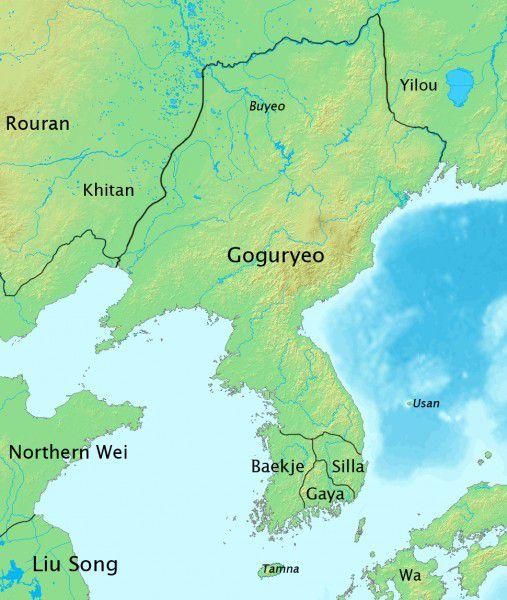 Map of The Goguryeo location