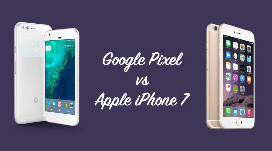 مقارنة بين جوجل بيكسل و ايفون 7