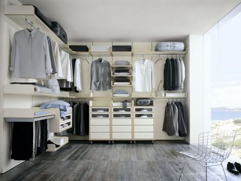 الابيض بغرف الملابس