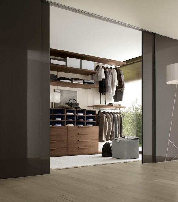 الاخشاب في غرف الملابس