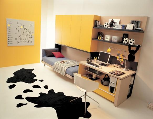 الاصفر بغرف النوم