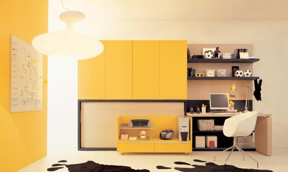الاصفر بغرفة النوم