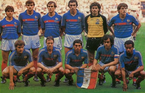 المنتخب الفرنسي عام 1984 الفائز بكأس الأمم الأوروبية