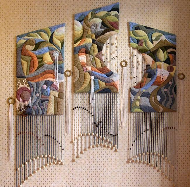 ديكورات النسيج اليدوي تابلوه-من-ا