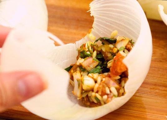 حشو البصل بالارز