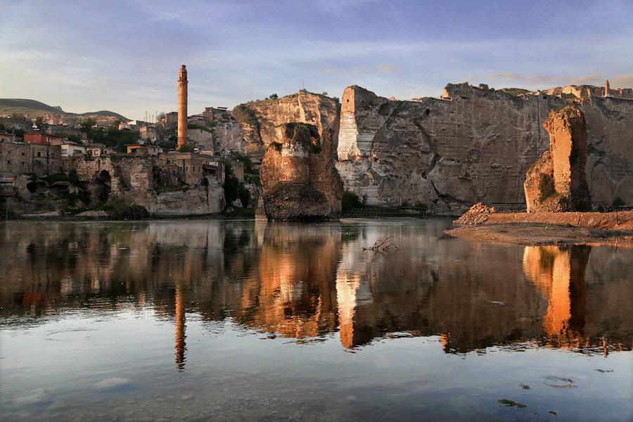 اخر خريف لزيارة بلدة حصن كيفيا على نهر دجلة