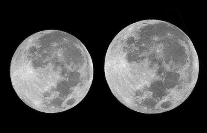 ظاهرة بالقمر العملاق