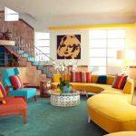 أحدث موديلات من غرف المعيشة الملونة