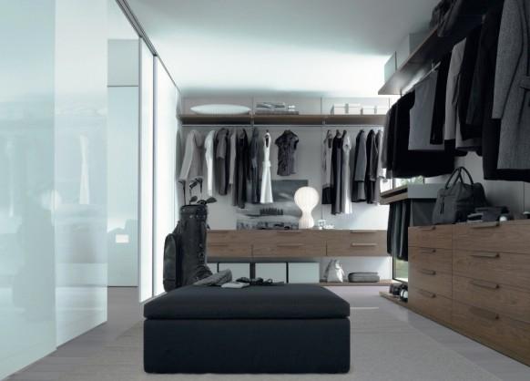 غرفة ملابس بالخشب