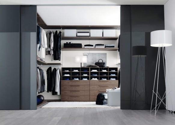 غرفة ملابس بتصميم مميز