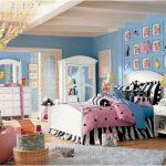 غرفة نوم بنات باللون الازرق