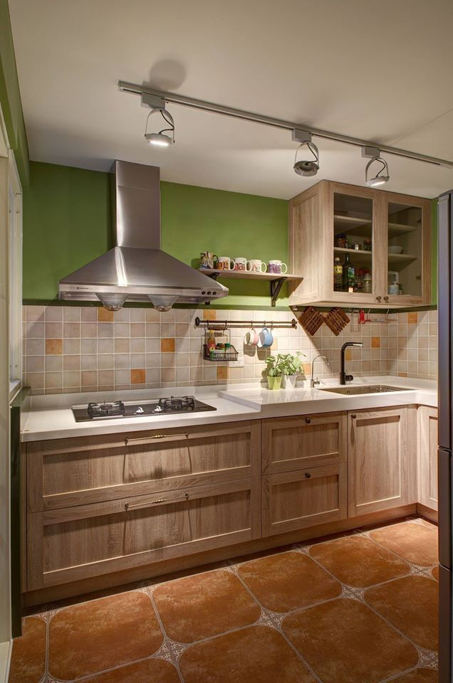 مطبخ خشبي بسيط