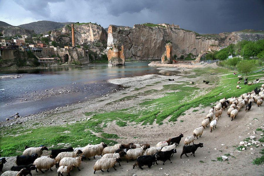 اخر خريف لزيارة بلدة حصن كيفيا على نهر دجلة  اخر خريف لزيارة بلدة حصن كيفيا على نهر دجلة