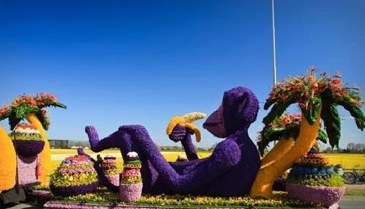 موكب مهرجان الزهور-هولندا