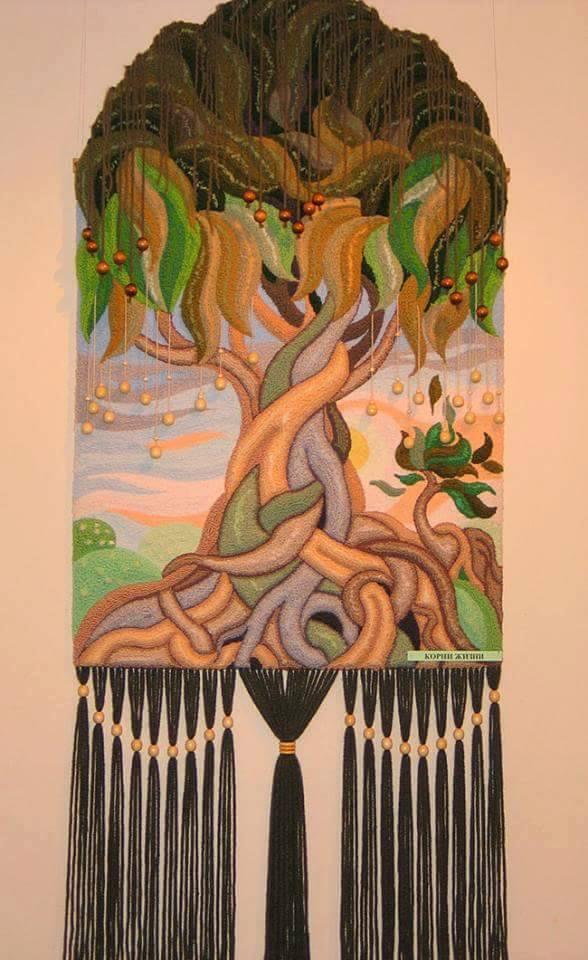 ديكورات النسيج اليدوي نسيج-شجرة.jp