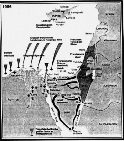 خريطة العدوان الثلاثي