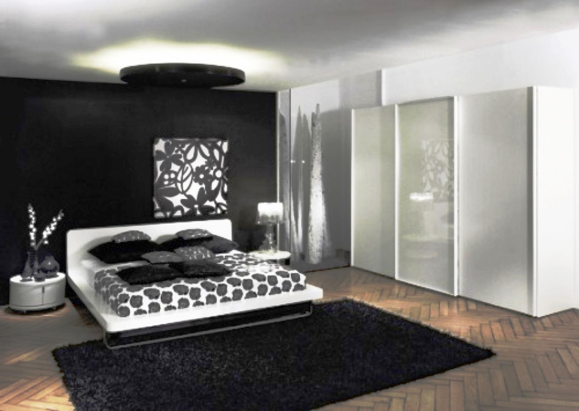 غرفة نوم ابيض و اسود | المرسال