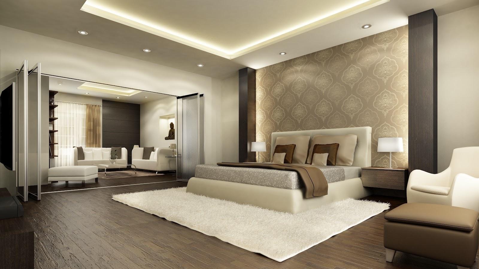 فخامة غرف النوم الرئيسية المرسال
