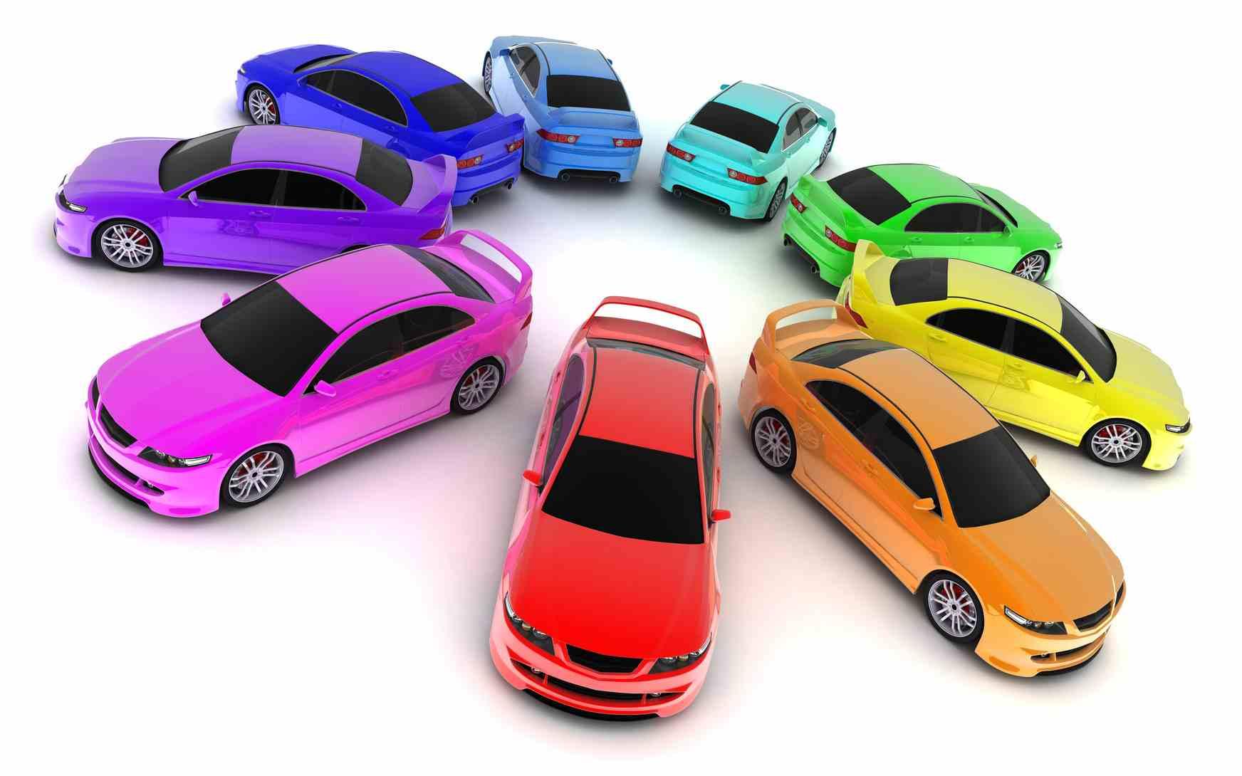 نتيجة بحث الصور عن الوان السيارات