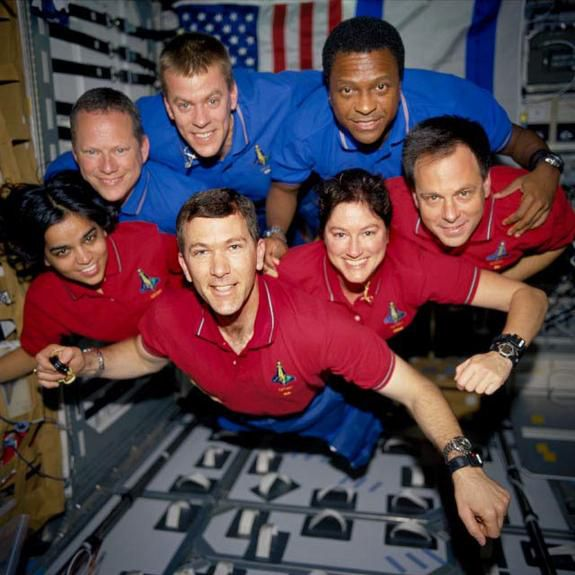 the STS-107 shuttle Columbia crew