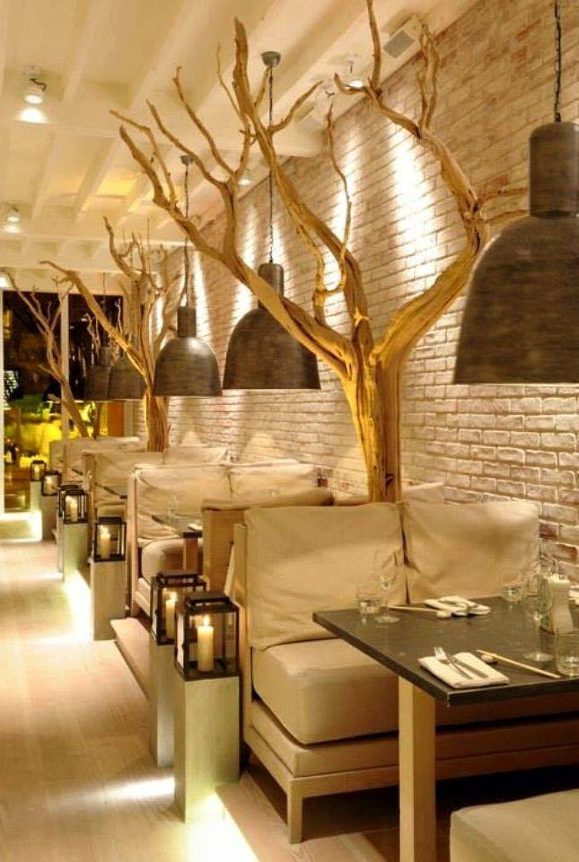 Tree trunks  beautiful designs of restaurants Beautiful designs of restaurants  D8 AC D8 B0 D9 88 D8 B9  D8 A7 D9 84 D8 B4 D8 AC D8 B1