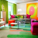 غرف جلوس بألوان مبهجة