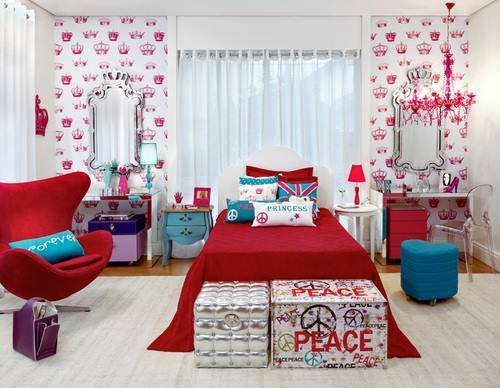 Red sleep  the latest girls' bedrooms The latest girls' bedrooms  D9 86 D9 88 D9 85  D8 A7 D8 AD D9 85 D8 B1