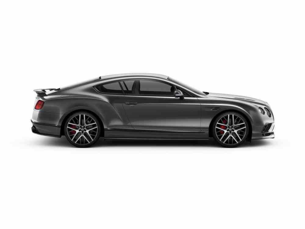 تصميم جانبي للسيارة بنتلي كونتيننتال 2018 سوبر سبورت