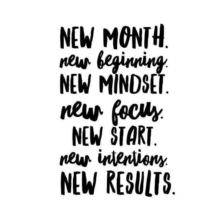 New Month New Beginning New Mindset New Focus New