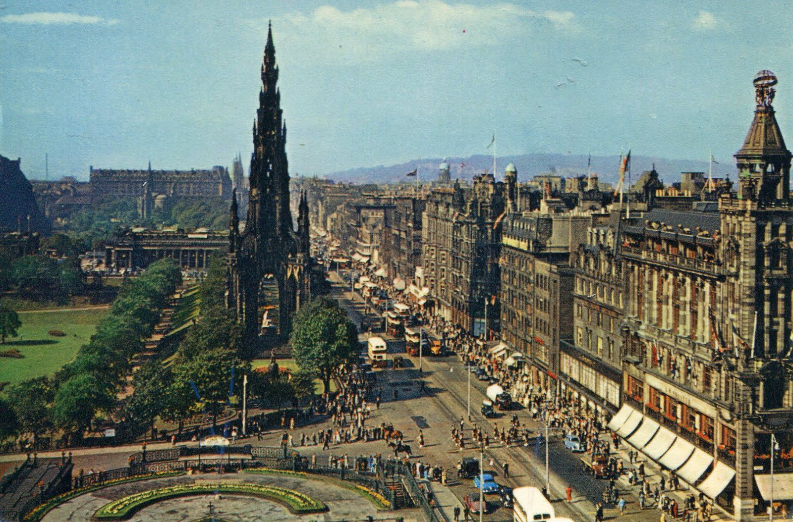 the castle, and Scott Monument