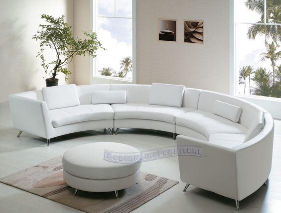 الأرائك الدائرية الديكور (الكنب الدائري) أريكة-باللون-الأبيض.