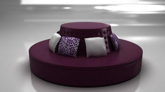 أريكة صغيرة باللون البنفسجي