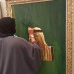 الفنانة غالية البوعينين .. رسامة الملوك و الأمراء